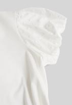 MANGO - T-shirt plume - white