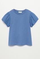 MANGO - T-shirt plume - blue