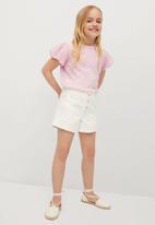 MANGO - T-shirt plume - pink