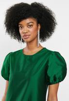 Blake - Drop waisted mini dress - green