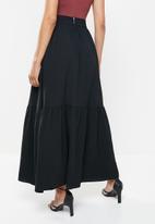 MILLA - Tiered maxi skirt - black