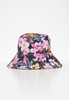 Superbalist - Floral bucket hat - pink & black