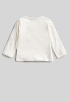 MANGO - Party long sleeve tee - off white