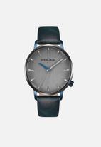 Police - Marmol 3 hand date watch - blue