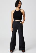 Cotton On - Petite parker long straight pant - black