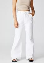 Cotton On - Petite parker long straight pant - chalk white