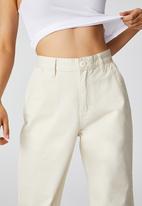 Cotton On - Petite parker long straight pant - vintage cream