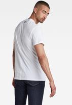 G-Star RAW - Layer originals logo gr short sleeve tee - white