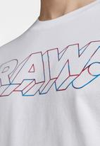 G-Star RAW - 3D Raw. tee - white