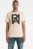 G-Star RAW - Graphic raw T-shirt - ecru