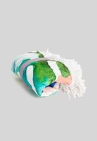 Bobums - Microfibre round printed towel - strelitzia