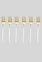 Jenna Clifford - Satin cake fork set of 6- gold