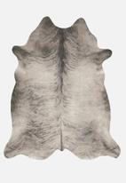 Sixth Floor - Faux cow hide rug - two toned grey