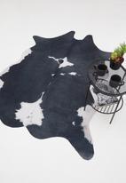 Sixth Floor - Faux cow hide rug - black & white