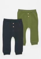 name it - Sefin 2 pack pants - navy & khaki