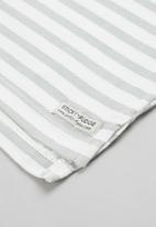 Sticky Fudge - 2 pack dotted stripe tee - grey & orchid