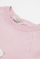Sticky Fudge - Confetti track top - lilac blush