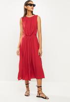 MANGO - Dress mina - red