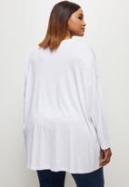 edit Plus - Dolman crew T-shirt - white