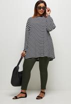 edit Plus - Dolman crew T-shirt - black stripe