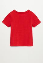 MANGO - Jane short sleeve tee - red