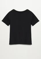 MANGO - Jane short sleeve tee - black