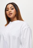edit Plus - Ll mandarrin collar shirt - white