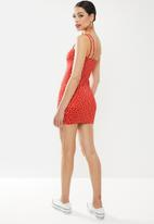 Missguided - Double strap cami mini dress - red
