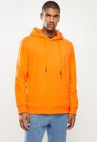 STYLE REPUBLIC - Plain hoodie pullover sweat - orange