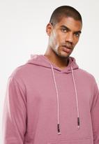 STYLE REPUBLIC - Plain hoodie pullover sweat - purple
