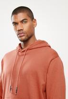 STYLE REPUBLIC - Plain hoodie pullover sweat - rust