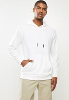 STYLE REPUBLIC - Plain hoodie pullover sweat - white