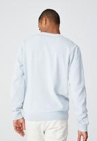 Cotton On - Lightweight crew knit - light blue