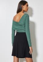 VELVET - Styled off shoulder bodysuit - seapine