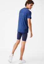 Cotton On - Performance active tech T-shirt - navy heather