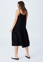 Cotton On - Woven mya strappy midi dress - black