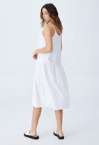 Cotton On - Woven mya strappy midi dress - white