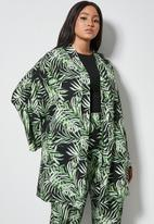 Superbalist - Midi shacket - black & green