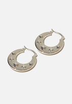 Rubi - Noughties hinge hoop - silver