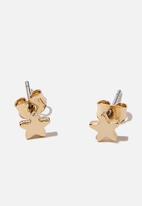 Rubi - Premium stud earrings - gold