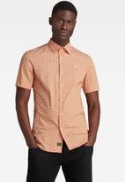 G-Star RAW - Dressed super slim shirt short sleeve - orange