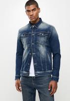 FUBU - Atlanta mens denim jacket - medium wash
