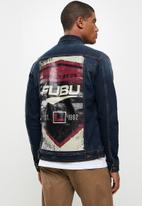 FUBU - San francisco mens denim jacket - dark wash