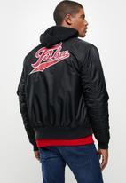 FUBU - Broadway premium bomber jacket - black