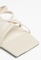 Cotton On - Elle strappy low block heel - bone