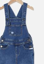 Cotton On - Isla flared overall - denim patching