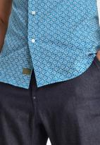 G-Star RAW - Dressed super slim shirt short sleeve - light royal blue