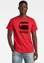 G-Star RAW - Flock hamburger logo r t - red