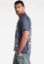 G-Star RAW - Hawaiian service regular shirt short sleeve - warm sartho
