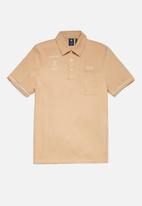 G-Star RAW - Summer contrast polo t - pink